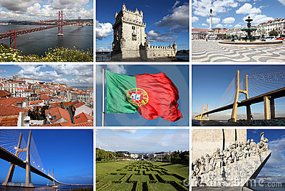 Collage of Lisbon sights