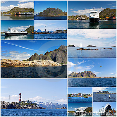 Collage of Norwegian landscape