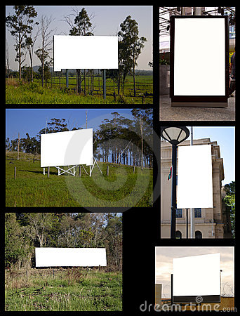 Free Collage Of Billboards Stock Photos - 4699113