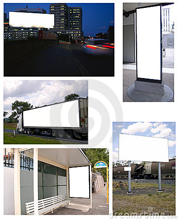 Free Collage Of Billboards Royalty Free Stock Images - 4699179
