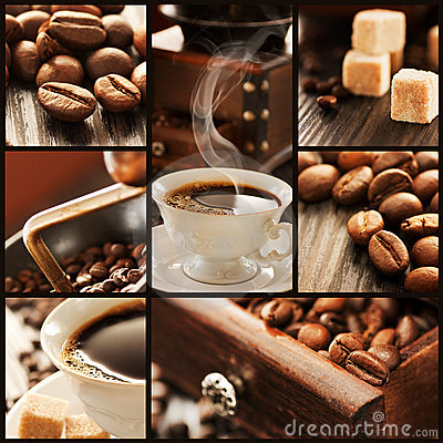 Free Collage Of Coffee Details. Royalty Free Stock Photography - 17884317