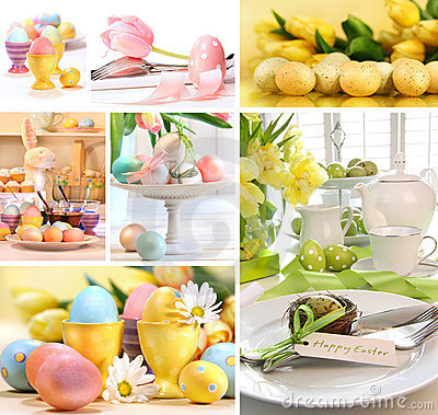 Free Collage Of Colorful Easter Images Royalty Free Stock Photo - 18868165