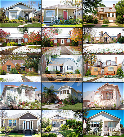 Free Collage Of Cottage Homes Stock Images - 27749494