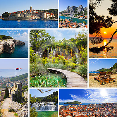 Free Collage Of Croatia Travel Images Stock Photography - 24568282