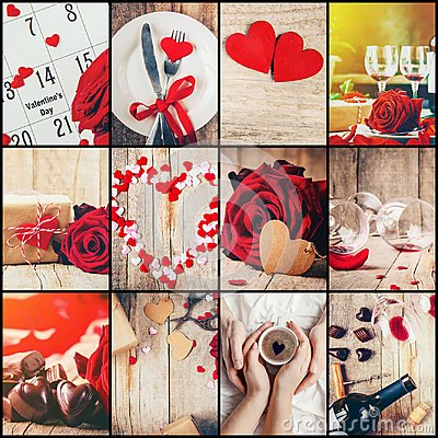Free Collage Of Love And Romance. Royalty Free Stock Images - 107694659