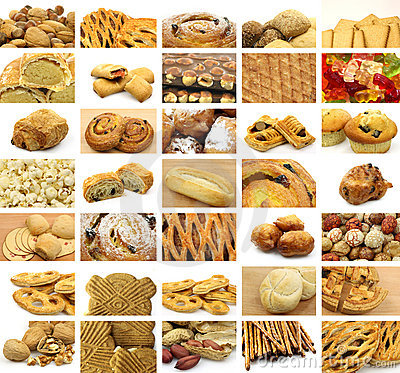 Free Collage Of Many Snacks Stock Photography - 15078692