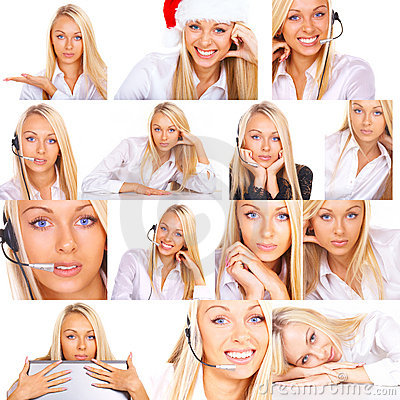 Free Collage Of Photos Of Woman Stock Photos - 3357703