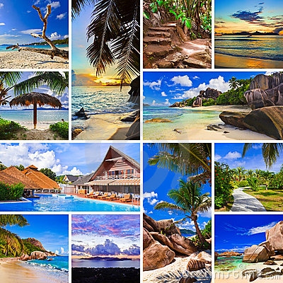 Free Collage Of Summer Beach Images Stock Photos - 14974383