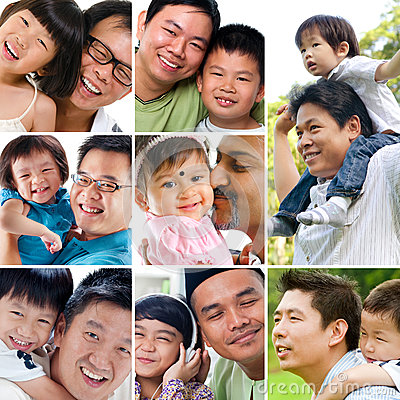 Collage photo father day concept.