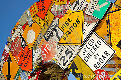 Collage of Road Signs