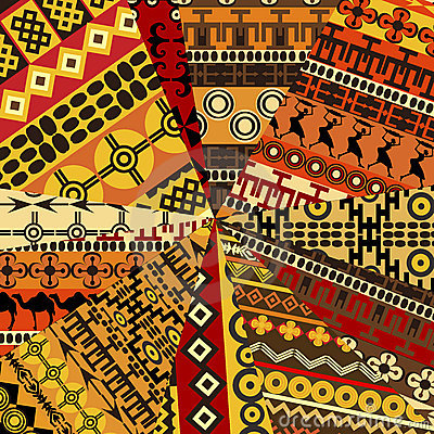 Collage of sample with ethnic motifs
