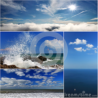 Collage of sea landscapes