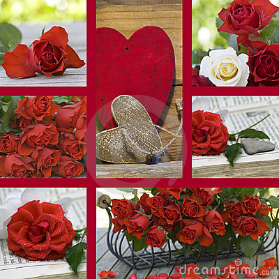 Collage valentine day