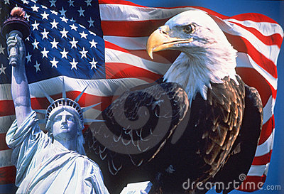 Collage van Amerikaanse Pictogrammen Redactionele Fotografie