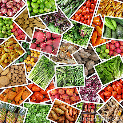 Collage Of Vegetables Amp Fruits Stock Photo Image 20024700