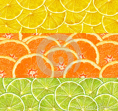 Free Collage With Citrus-fruit Of Lime, Lemon And Orange Slices Royalty Free Stock Photography - 86374767