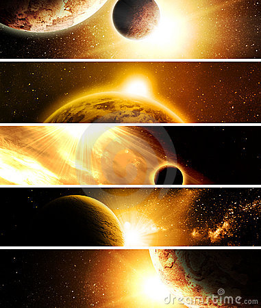 Free Collage With Planets Stock Photo - 22893200