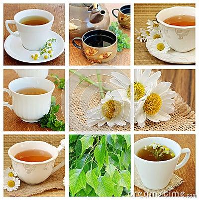 Free Collage With Tea Stock Photo - 20294650