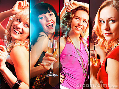 Collage of woman party