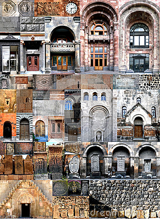 Free Collages Architecture Armenia Stock Image - 28088541
