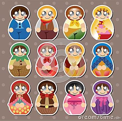 Collants russes de poupées