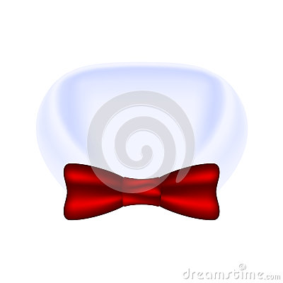 Collar of shirt and bow tie
