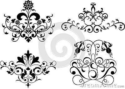 Collect element for design, set flower, vector