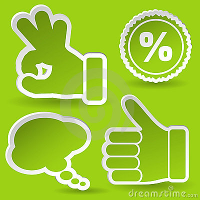 Free Collect Sticker With Hand And Stamp Icon Royalty Free Stock Photo - 20784015
