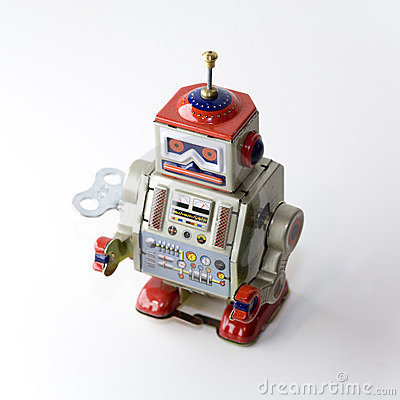 Free Collectable Clockwork Toy Robot Royalty Free Stock Images - 645209
