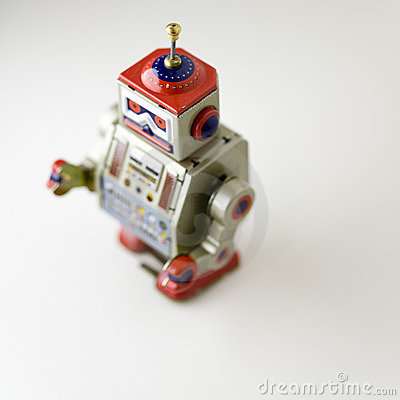 Free Collectable Clockwork Toy Robot Stock Images - 645214