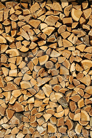 Collected wood