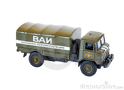 Collectible Model Russian GAZ-66, isolated