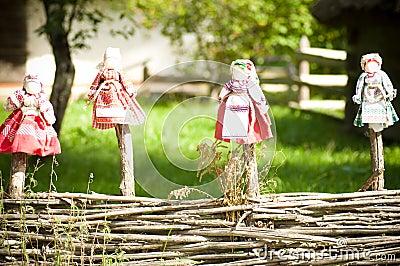 Collectible Ukrainian folk dolls