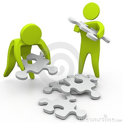 Free Collecting Pieces Of Puzzle Stock Images - 14209414