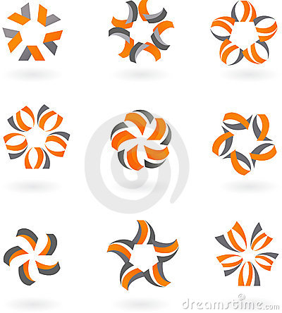 Collection of abstract icons and  logos - 5