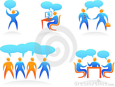 Collection of abstract people logos - 4