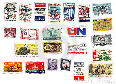 Collection of American stamps