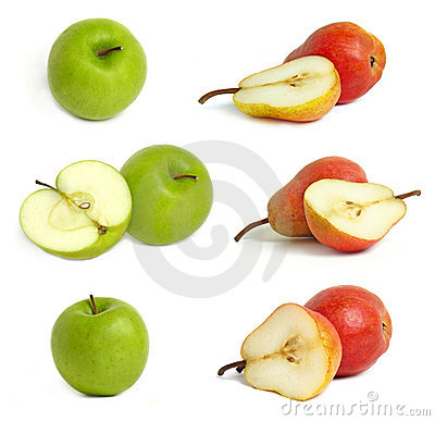 Collection of apples and pears