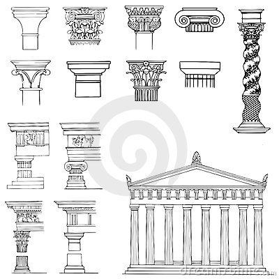 Collection of architectural elements