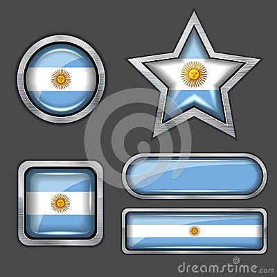 Collection of argentina flag icons