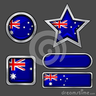 Collection of australia flag icons