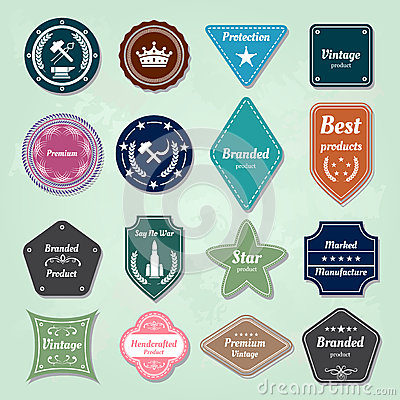 Collection of  badges and labels logo