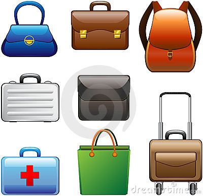 Free Collection Bags Royalty Free Stock Image - 9664576