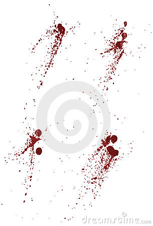 Collection of blood or paint splatters