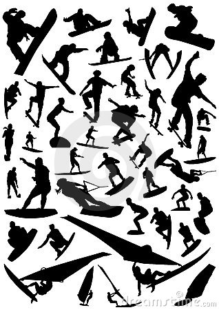 Collection of board sports vector 4