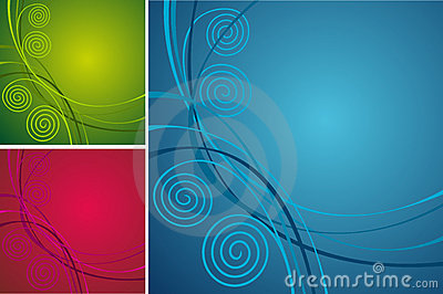 Collection bright abstract background