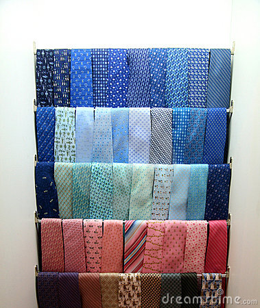 Collection of brightly-colored neck ties