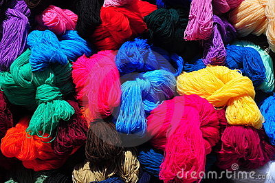Collection of brightly coloured balls of wool