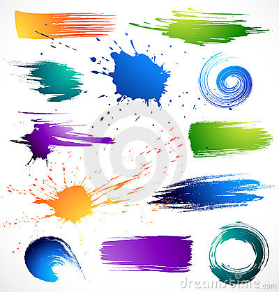 Collection of brush strokes