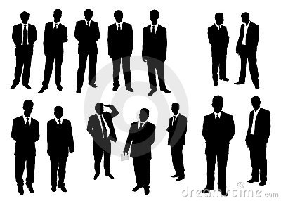 Collection of businessman